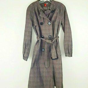 H&M - Brown & Black Trench Coat